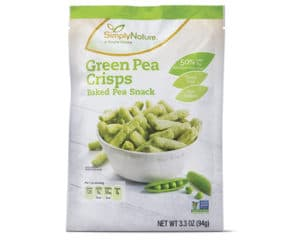 green pea crisps