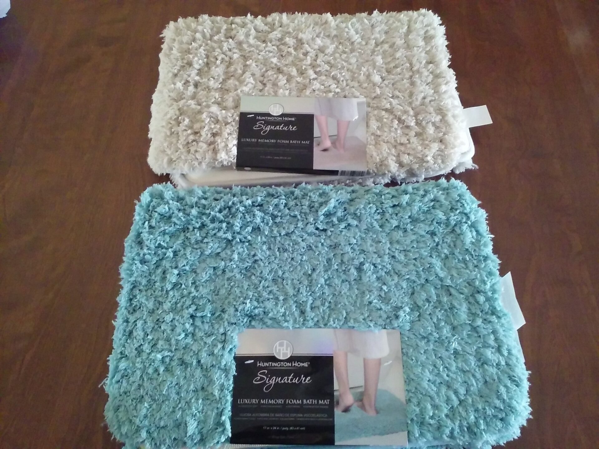 huntington home signature luxury memory foam bath mat aldi reviewer