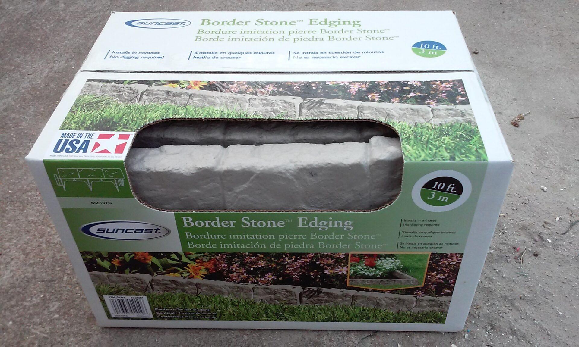 Suncast Border Stone Edging Aldi Reviewer
