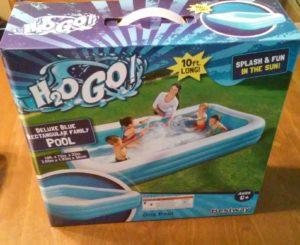 h2o go deluxe blue rectangular family pool aldi reviewer. Black Bedroom Furniture Sets. Home Design Ideas