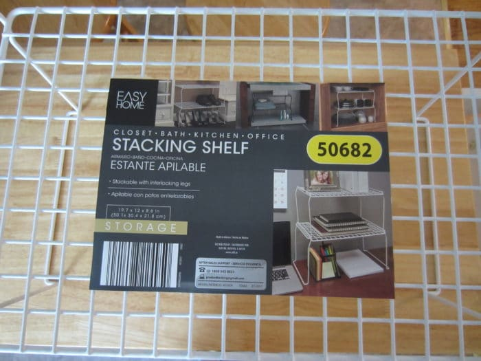 Easy Home Stacking Shelf Aldi Reviewer