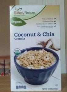 SimplyNature Coconut & Chia Granola