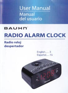 Bauhn Radio Alarm Clock Manual
