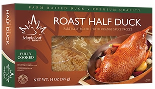 Maple Leaf Roast Half Duck