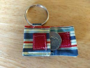 Keychain Aldi Quarter Holder