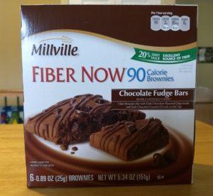 Millville Fiber Now 90 Calorie Chocolate Fudge Bars