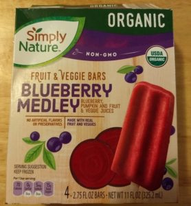 SimplyNature Blueberry Medley Fruit Veggie Bars