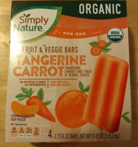 SimplyNature Tangerine Carrot Fruit Veggie Bars