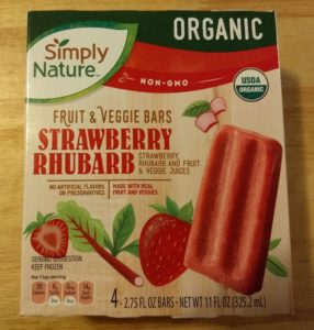 SimplyNature Strawberry Rhubarb Fruit & Veggie Bars