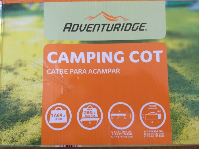 Adventuridge Camping Cot Aldi Reviewer