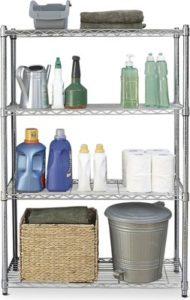 Easy Home 4-Tier Chrome Shelving
