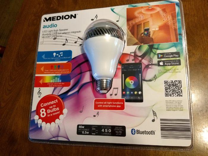 Medion LED Light Bulb Speaker