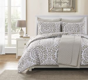 Huntington Home 6-Piece Reversible Comforter and Coverlet Set