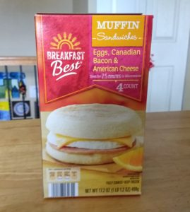 Breakfast Best Eggs, Canadian Bacon, and American Cheese Muffin Sandwiches