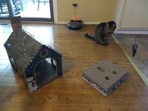 Heart to Tail Cat Scratching Playhouse and Cat Activity Box