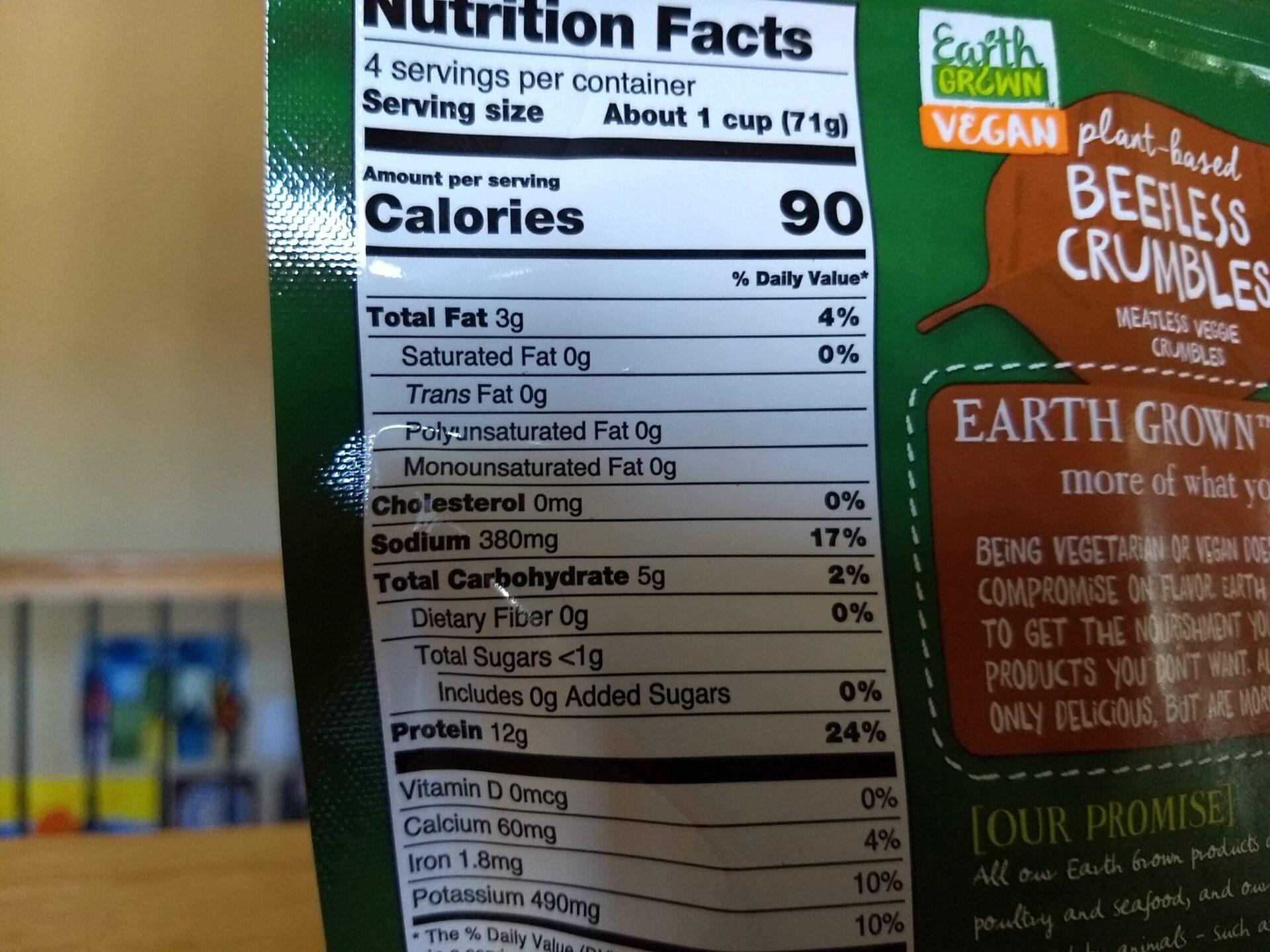 Earth Grown Vegan Beefless Crumbles | ALDI REVIEWER