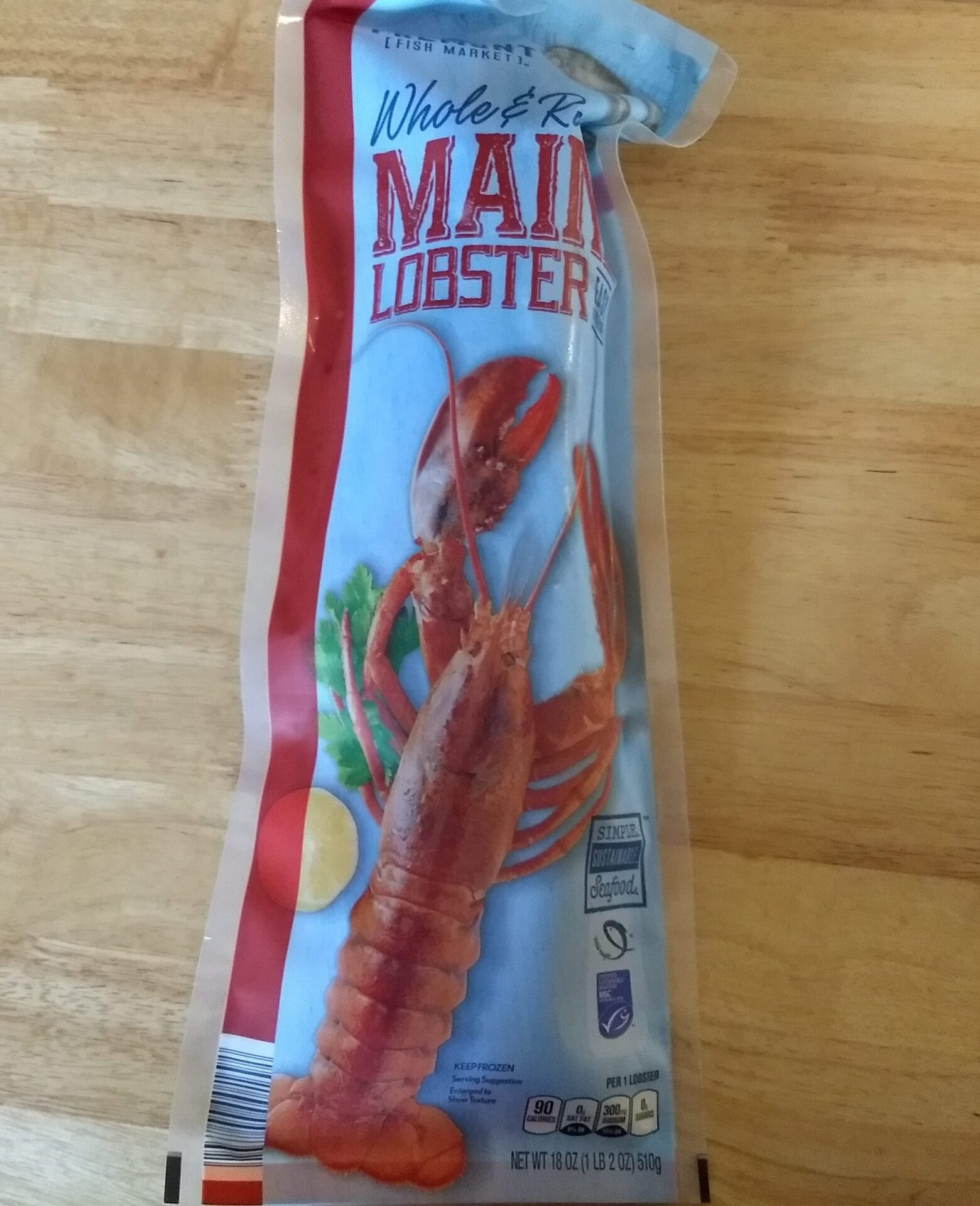 Fremont Fish Market Whole and Raw Maine Lobster | ALDI REVIEWER