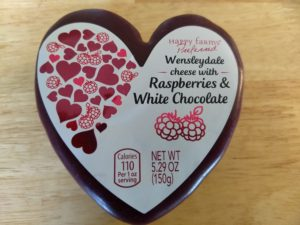 Happy Farms Preferred Wensleydale Cheese with Raspberries and White Chocolate