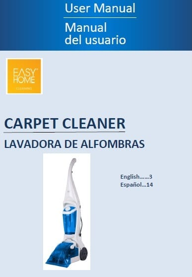Easy Home Carpet Cleaner Manual