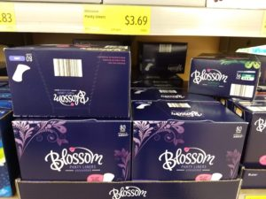 Aldi Blossom Feminine Hygiene Products