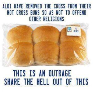 Aldi meme hot cross buns