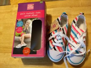 Lily and Dan Girls Memory Foam Lace-Up Shoes