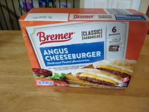 Bremer Classic Handheld Angus Cheeseburger Flatbread Pocket Sandwiches 1