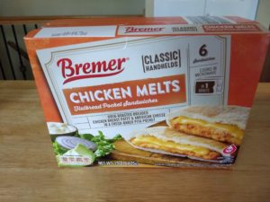 Bremer Classic Handheld Chicken Melts Flatbread Pocket Sandwiches 1