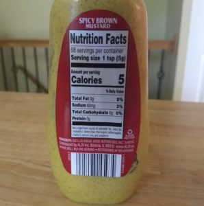 Burman's Spicy Brown Mustard - Ingredients