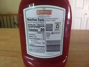 Burman's Tomato Ketchup - Ingredients