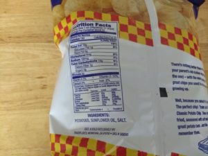 Trader Joe's Ode to the Classic Potato Chip - Nutrition