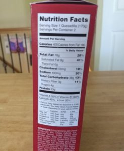 Trader Joe's Southwest Chicken Quesadillas - Nutrition