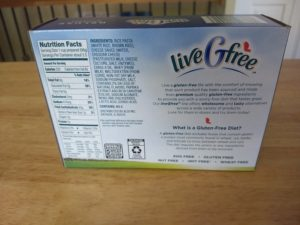liveGfree Deluxe Rice Pasta and Cheese - Information