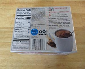 Baker's Corner Mug Delights 3a - Brownie Nutrition