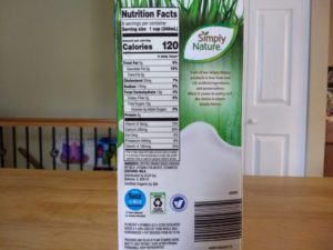 Simply Nature Organic Grassfed Milk Nutrition Info