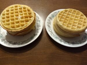 Aldi waffles vs Eggo waffles 2