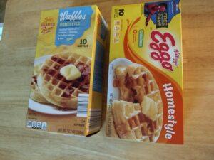 Aldi waffles vs Eggo waffles