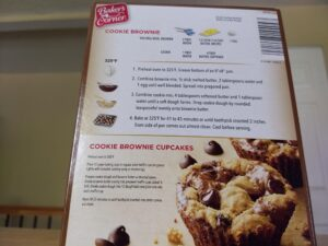 Baker's Corner Chocolate Chip Cookie Brownie Bar Mix instructions