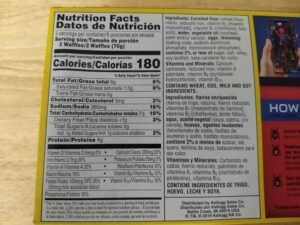 Eggo Waffles ingredients and nutrition