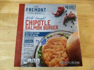 Fremont Fish Market Chipotle Salmon Burger