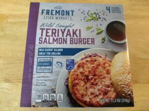 Fremont Fish Market Teriyaki Salmon Burger