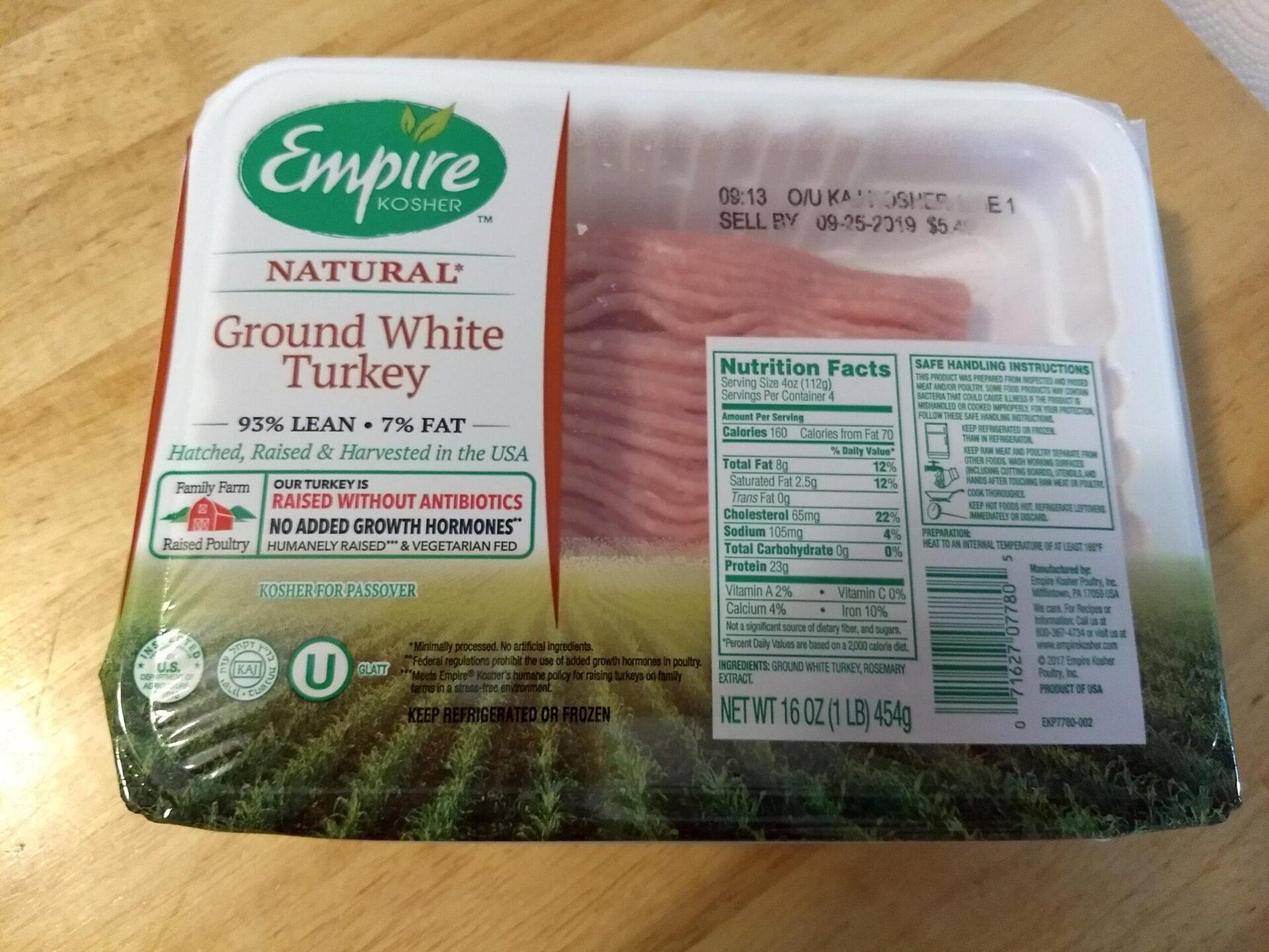 Trader Joe S Empire Kosher Natural Ground White Turkey Aldi Reviewer