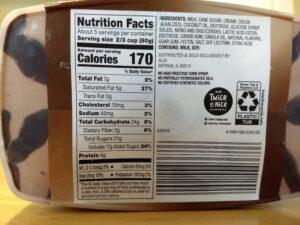 Sundae Shoppe Chocolate Fudge Truffle Gelato nutrition and ingredients