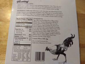 Trader Joe's Quiche Lorraine ingredients and nutrition