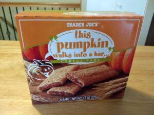 Trader Joe's This Pumpkin Walks Into a Bar Cereal Bars