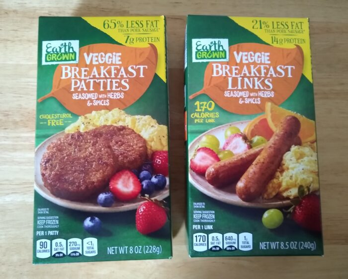Earth Grown Vegan Breakfast Links and Patties