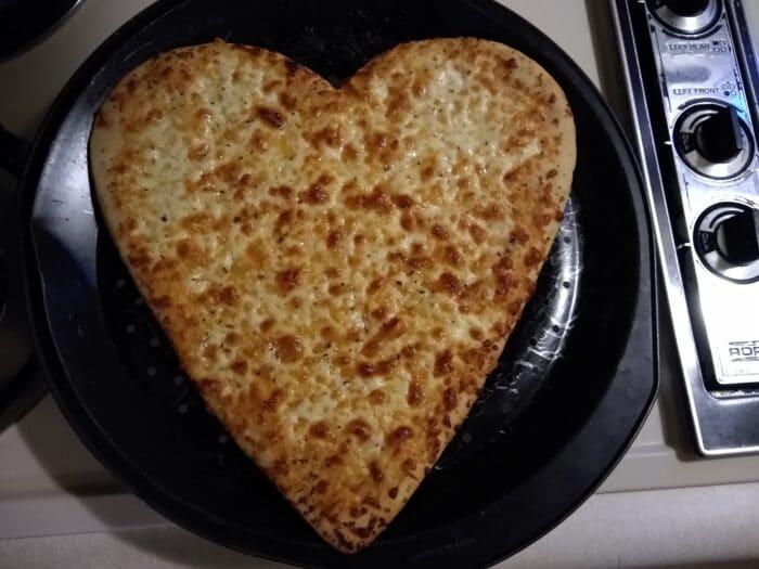Mama Cozzi's Pizza My Heart Heart-Shaped Cheese Pizza