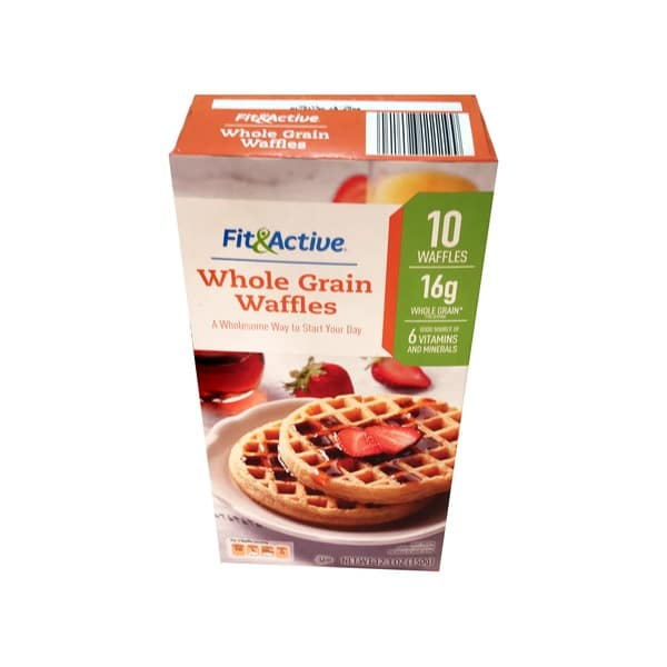 fit and active whole grain waffles