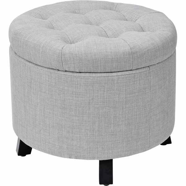 SOHL Furniture Round Storage Ottoman