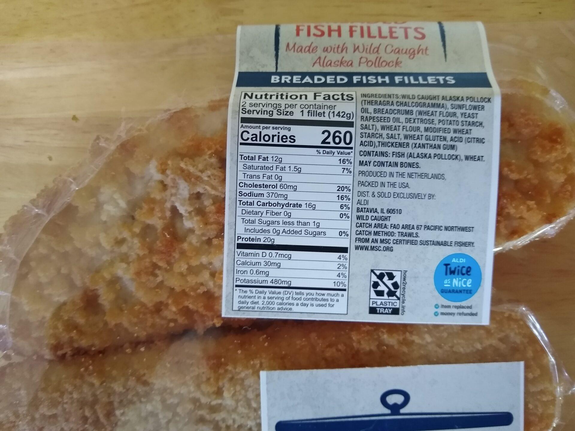 Aldi Breaded Fish Fillets